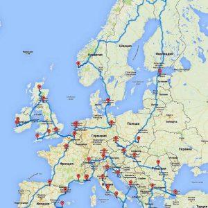Самое оптимальное путешествие по Европе
